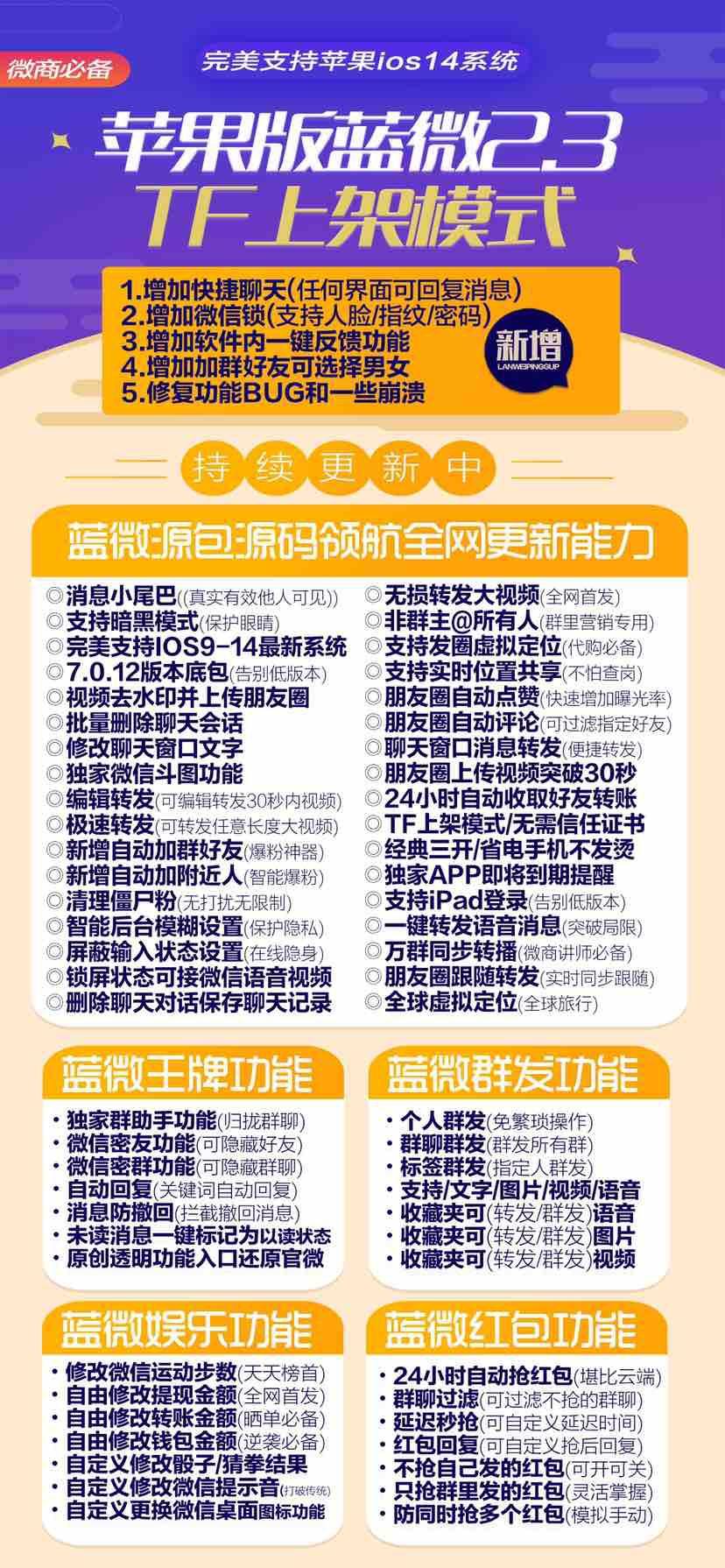 【苹果蓝微官网下载激活授权码】苹果微信多开分身下载使用教程